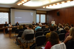 diskuze City Makers, dům Radost, foto Kateřina Voverková